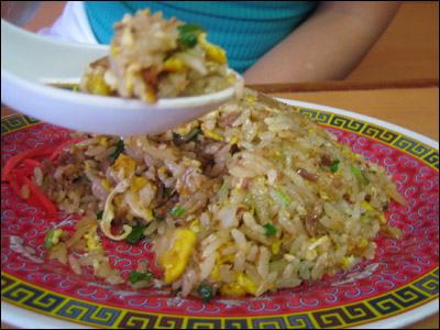 Tenkaippin's fried rice