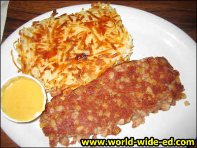 Side order of hash browns and corned beef hash