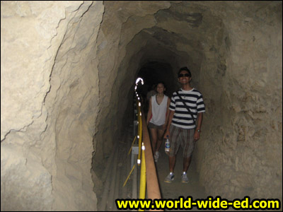 225 foot long tunnel separating the two staircases.