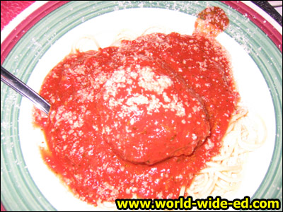 One Big Meatball - 1/2 lb Meatball Smothered in Marinara Sauce - $9.99