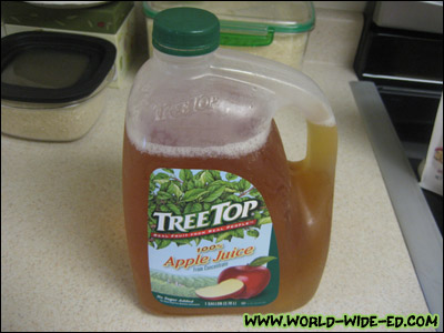Jumbo Jug 'o Juice, Apple that is