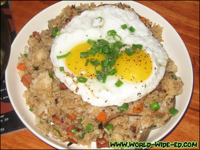Fried Rice with Two Eggs - $8