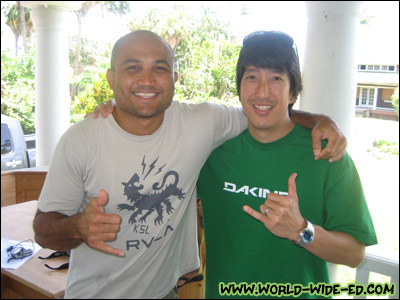 B.J. Penn and your boy. Yeah, I need a haircut... I know! :P