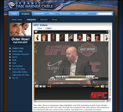 UFC 101 Live Streaming Content