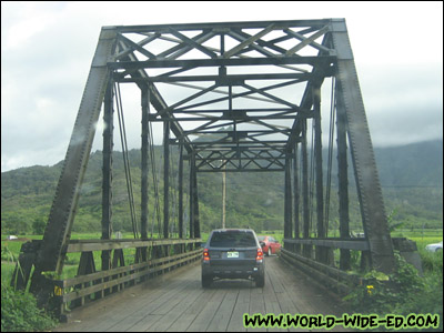Hanalei Bridge in Kauai