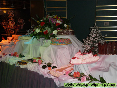 Various Cakes and pies at the Dessert Extravaganza