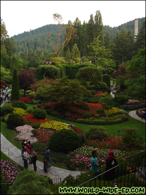 Overlooking the Sunken Garden at Butchart Gardens [Photo credit: Mom Kojima]