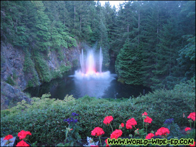 Ross Fountain Lookout at Butchart Gardens
