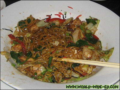 Seafood Yakisoba - seafood stir friend with egg noodles & vegetables - $15