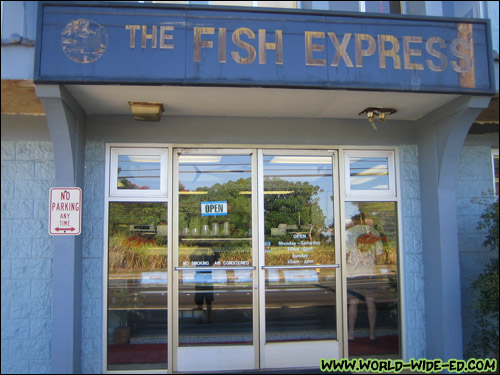 Outside The Fish Express in Lihue, Kauai