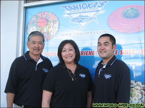 The Tanioka `Ohana: Mel, Lynn and Justin (not pictured: daughter Jasmine Tanioka Lum)