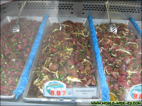 Fresh ahi poke - all under $9/lb [Photo Credit: Arthur Betts]