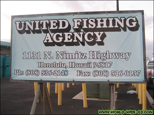 United Fishing Agency sign