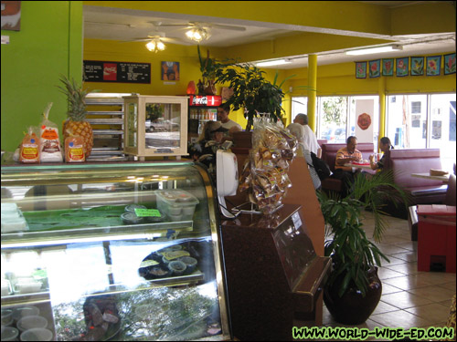 Interior of Haili's Hawaiian Foods [Photo Credit: Arthur Betts]