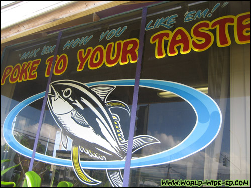 Poke to Your Taste sign