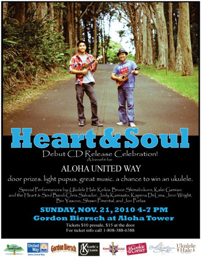 Poster for Heart & Soul Debut CD Release Celebration (click to enlarge)