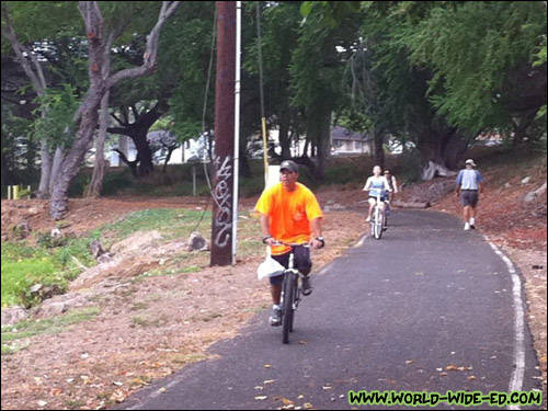 Pearl Harbor Bike Path in the Aiea Bay State Recreation Area [Photo Courtesy: Todd Wakida]