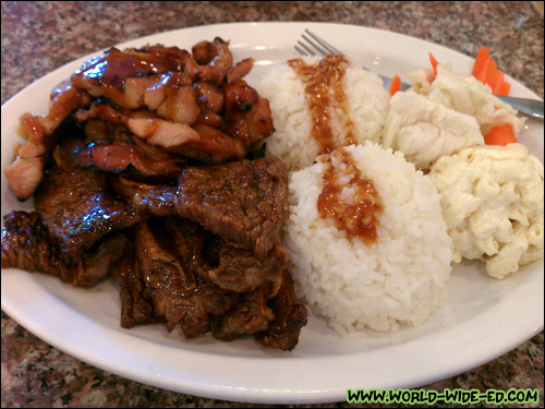 IchiGrill - 1 fillet of chicken and 2 slices of kalbi short ribs - $9.95