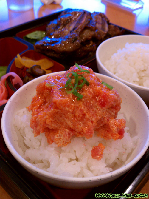 Spicy Ahi & Kalbi (BBQ Beef Short Rib) Combination Dinner - $14.95