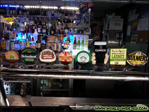Partial beer selection on tap