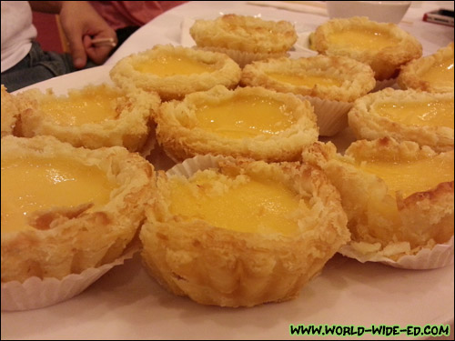 Custard Tarts off the Yum Cha menu