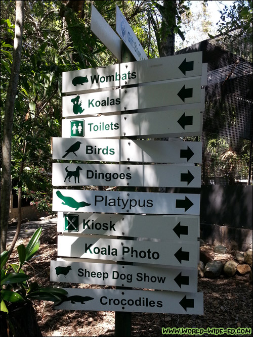 Directions at the Lone Pine Koala Sanctuary