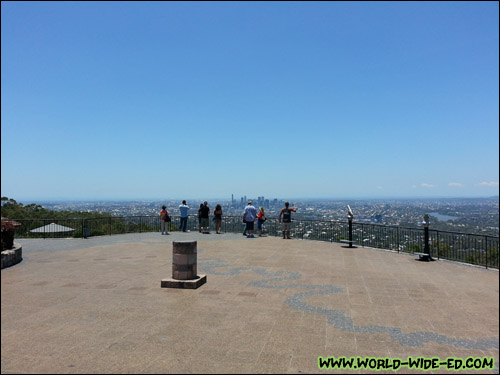 Brisbane Lookout's deck