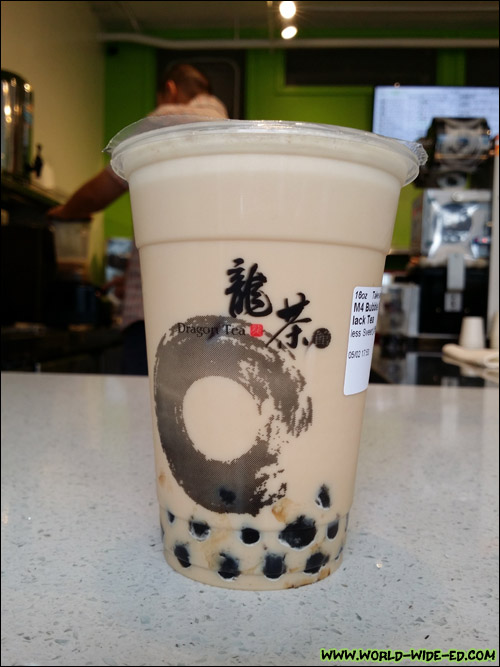 16oz Black Milk Tea with Tapioka ($3.35)