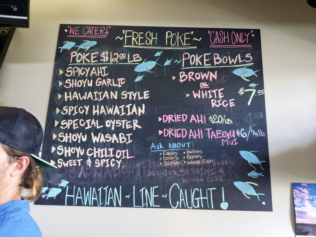Ahi Assassins' Poke Menu