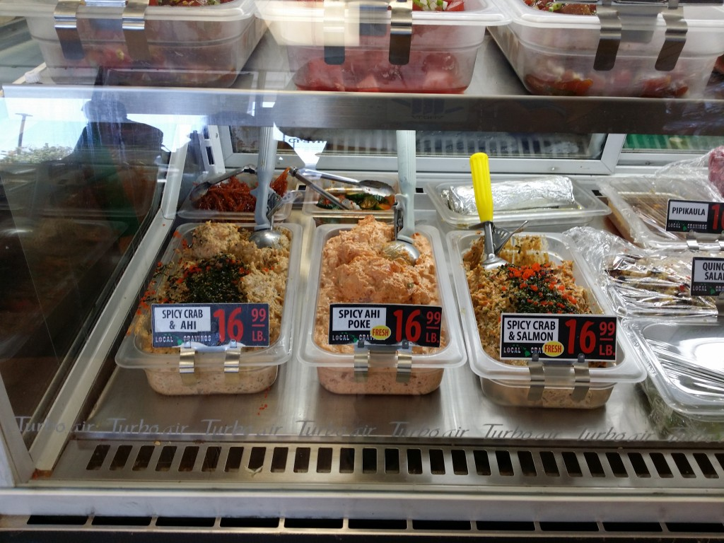 Some of Local Cravings' poke selection