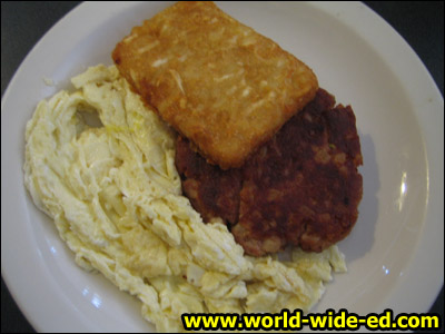 Corn beef hash and eggs with hash brown