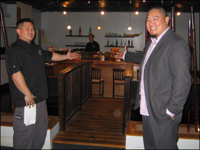 Master Sushi Chef Norlan Horita (left) and General Manager Grant Yonehiro welcome you to the sushi bar at Osake Sushi Bar and Lounge