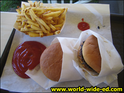 Bubba's Burgers and fries