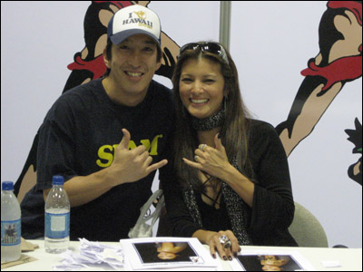 Kelly Hu at the Honolulu Marathon Expo