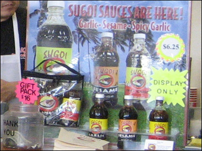 Sugoi's Bottled Sauce Display