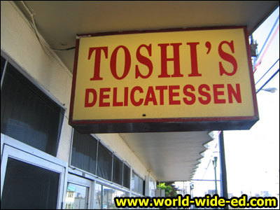 Toshi's Delicatessen Sign