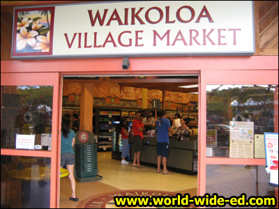 Shopping for dinner at Waikoloa Village Market