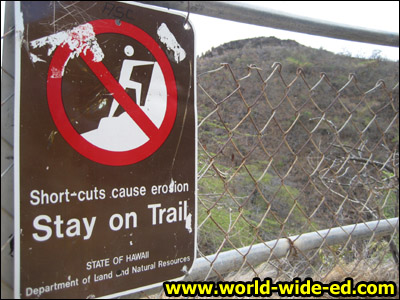 Scenes from the switchback trail - Stay on Trial sign