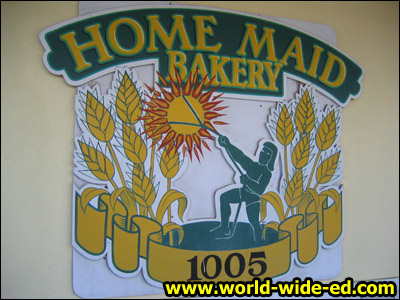 Home Maid Bakery sign