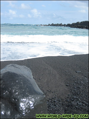 Black Sand Beach at Wai`anapanapa State Park