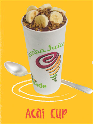 Açai Cup ad (photo courtesy Jamba Juice Hawaii)