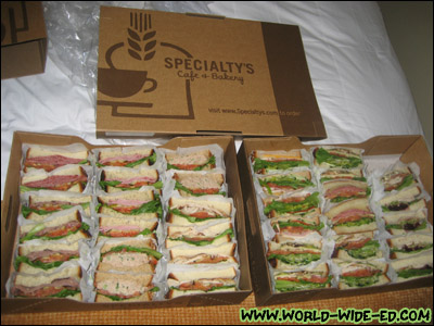 Sandwiches from Specialty's Cafe & Bakery