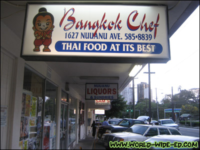 Bangkok Chef sign