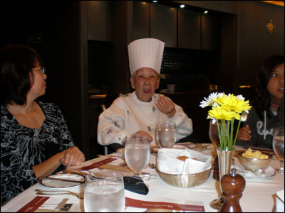 Grandma having fun at the Master Chef's Dinner [Photo credit: Norman Kubota]