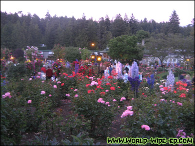 The Rose Garden at Butchart Gardens