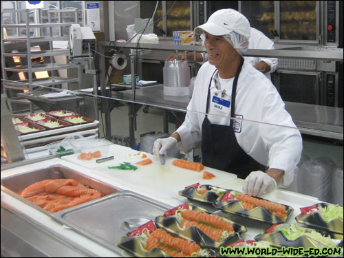 Mike is a professional sashimi cutter with 20+ years of experience [Photo Credit: Arthur Betts]