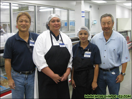 Jed Inouye, employees Julie and Theresa, and general partner Arick Yanagihara [Photo Credit: Arthur Betts]