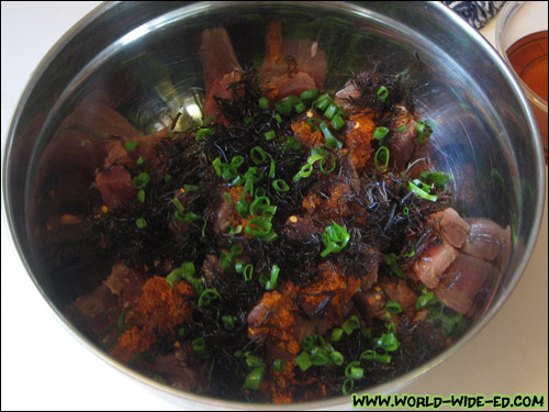 Poke mixture before mixing