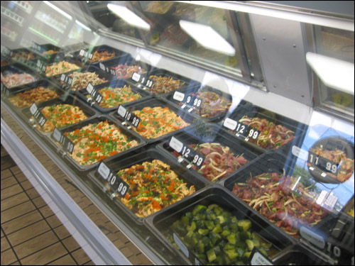 Fresh Catch's wide poke selection [Photo Credit: Arthur Betts]