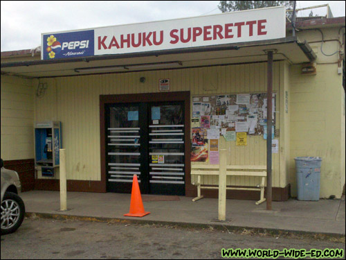 Outside Kahuku Superette